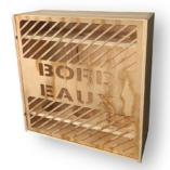 Coffret caisse de vin bois découpé le curieux 3B bordeaux ecrin du vin