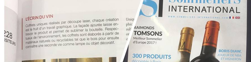 Parution dans le Magazine Sommeliers International