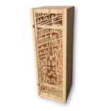 Coffret caisse de vin bois découpé Eglise st Michel Bordeaux ho posani ecrin du vin