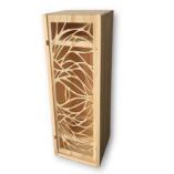 Coffret caisse de vin bois découpé Le Naturel racines d'arbres ecrin du vin