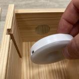 Lampe boitier led autonome rechargeable usb L'Ecrin du vin clips. jpg